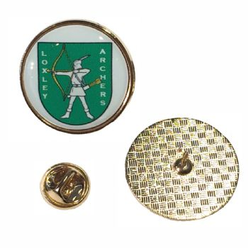 Premium Badge 25mm round gold clutch and printed dome
